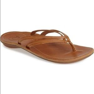 Olukai Sahara Tan Thong Sandals Sz 5